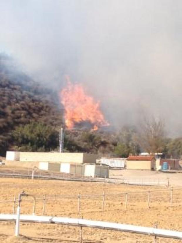 El Cajon Hillside Fire Sparked by Police Training