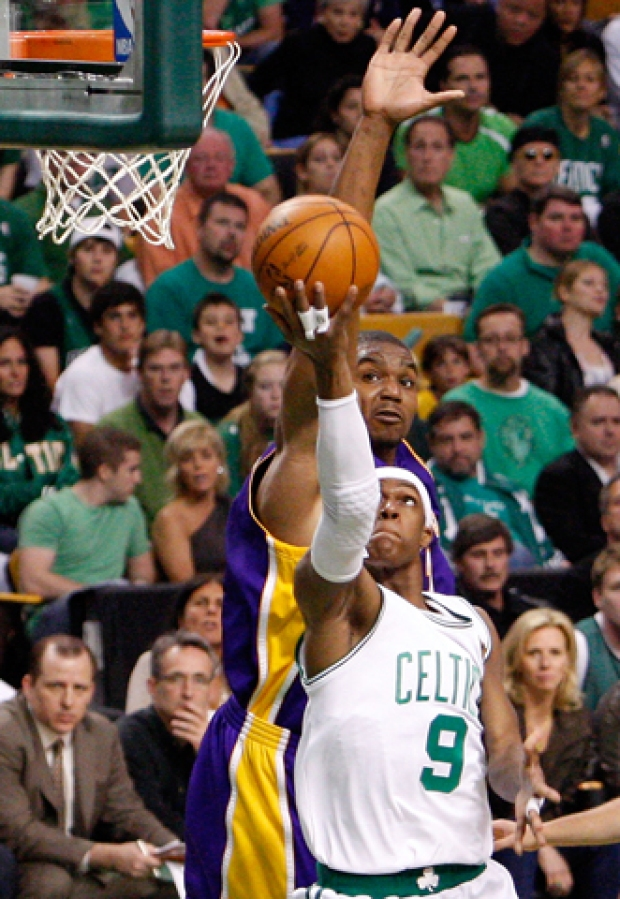 Scenes from Celtics v. Lakers. Game 5