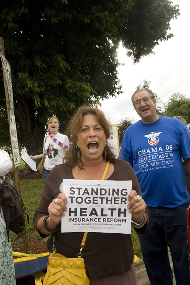 Peaceful Town Hall Meeting on Health Care Reform