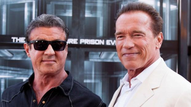"""[NATL] Sylvester Stallone, Arnold Schwarzenegger Talk """"Escape Plan"""" at Comic-Con"""