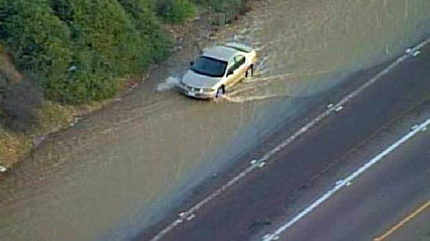 Highway Flooding Water Main Otay Mesa