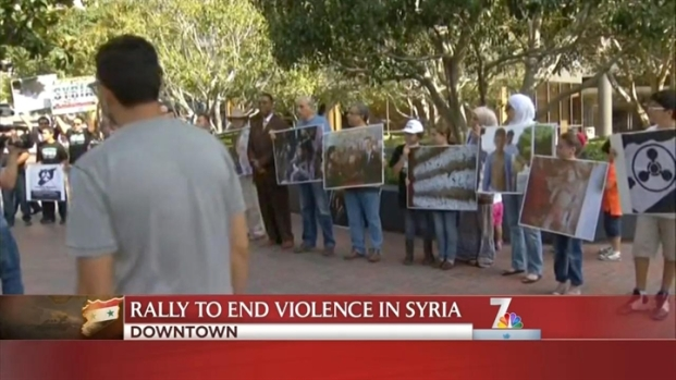 [DGO] Syrian-American Council Rallies in Downtown San Diego