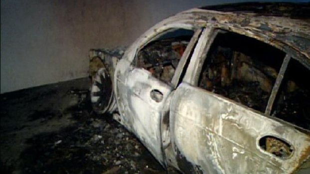 BMW Burns at San Diego Hilton Bayfront Garage