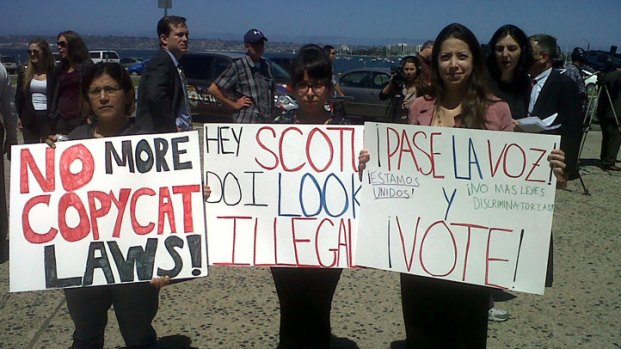 Locals Protest SCOTUS AB 1070 Ruling: Images