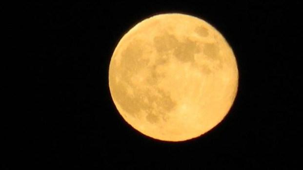 Blue Moon in San Diego Skies