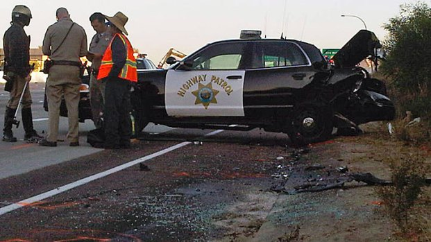 [G] CHP Officer Involved in I-15 Crash: Images
