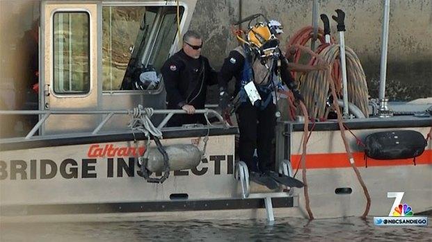 Caltrans Bridge Inspection Crew Examines Coronado Bridge