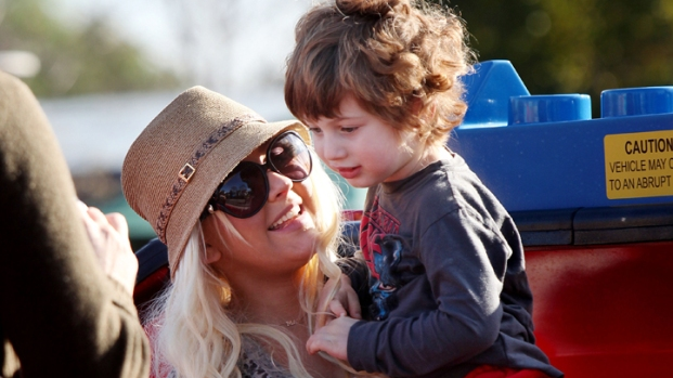 Christina Aguilera Throws B'Day Bash for Son at Legoland