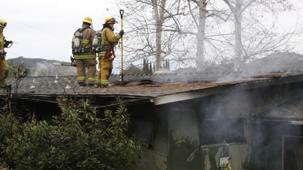 Man Hospitalized After North County-Area House Fire
