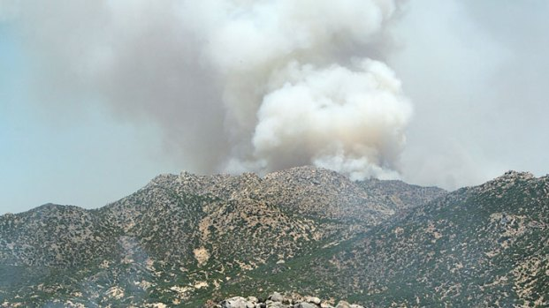 Crews Battle Eagle Fire Near Warner Springs