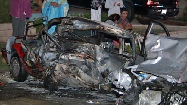 [DGO] Cars Demolished in Hit and Run Crash