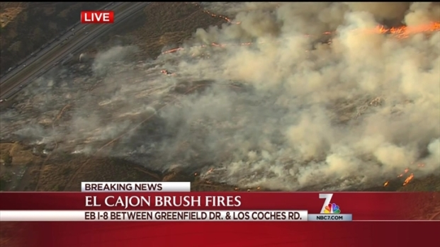 [DGO] Brush Fires Spark Along I-8