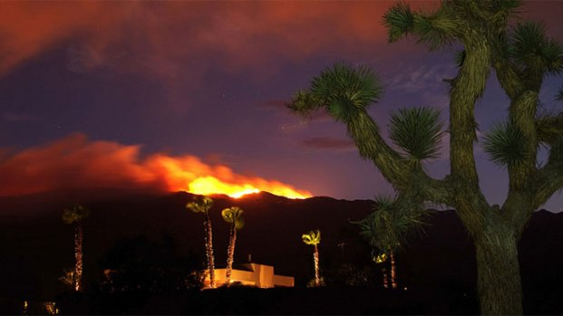 Vallecito Fires Burning in East County: Images