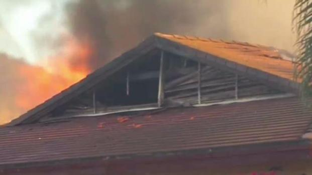 Firefighters Battle Blaze at Old Escondido Country Club