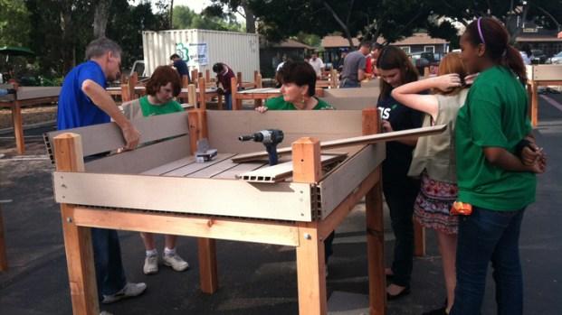 [DGO] Girl Scouts Rebuild Balboa Park Lily Pond Boxes