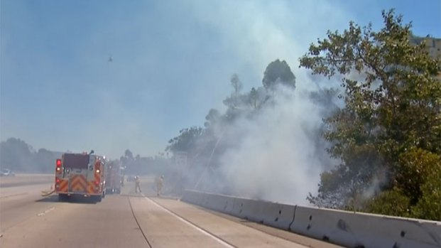 [DGO] Brush Fire Threatens Homes Near SR 125