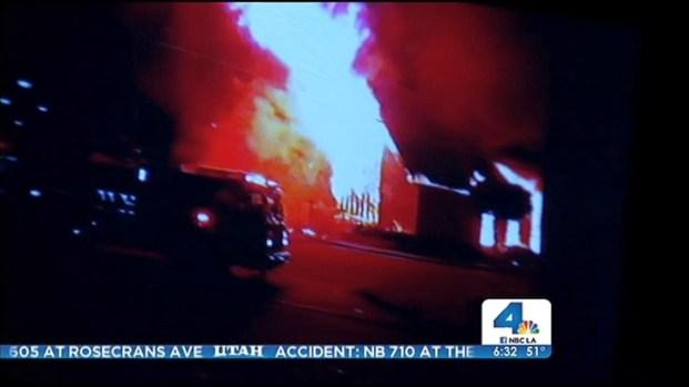 [LA] Fire Rips through South LA Church