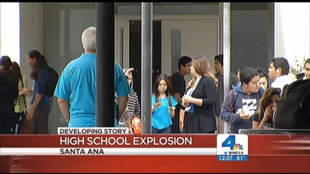 [LA] Four Injured in Explosion at Santa Ana HS