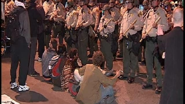 [DGO] Occupy SD Arrests: Raw Video, Warning Graphic Language