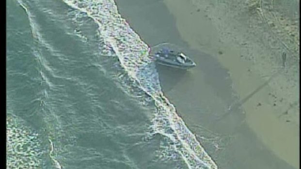[DGO] Suspected Load Boat Discovered Along Ocean Beach: Raw Video
