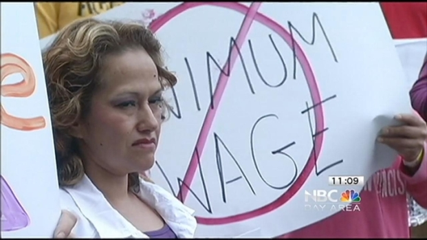 "[BAY] ""Super Size My Wage"" Oakland Fast Food Workers Urge"