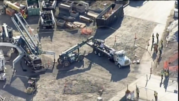 [BAY] RAW VIDEO: Aeriel View of Levi's Stadium After Steel Worker Dies