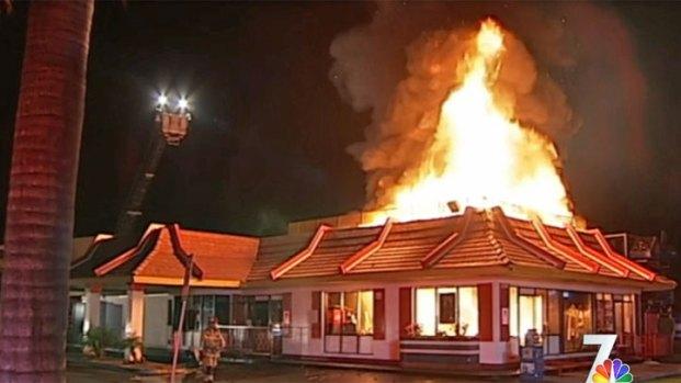 McDonald's Fire Escondido