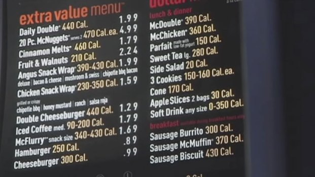 [DFW] McDonald's to Add Calorie Info to Menu