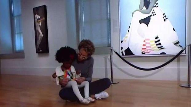 Michelle Obama Portrait Painter Meets Girl Who Went Viral