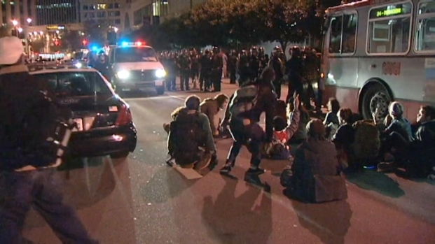 [BAY] Raw Video: Police Disperse Occupy SF Protesters