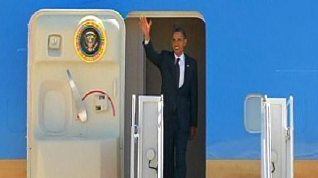 President Obama Arrives in SD