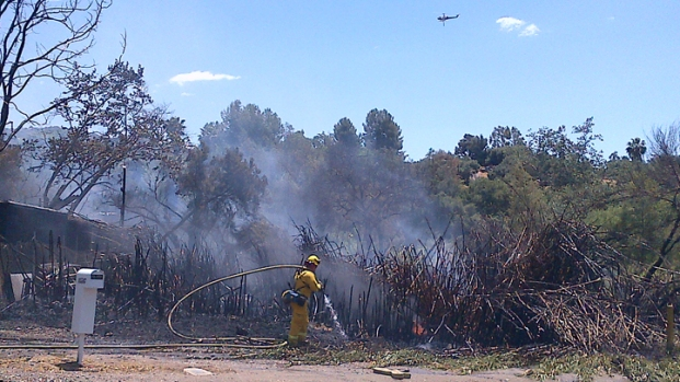 Fire Sparks on Olde Highway 80