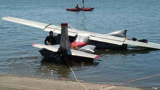 Small Plane Goes Down in Harbor