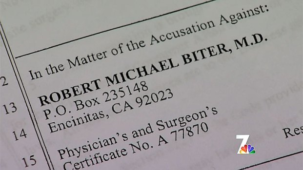 [DGO] Medical Board Suspends Robert Biter's License