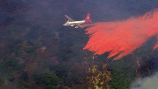 [BAY] Raw Video: Firefighters Battle Blaze Above Santa Barbara