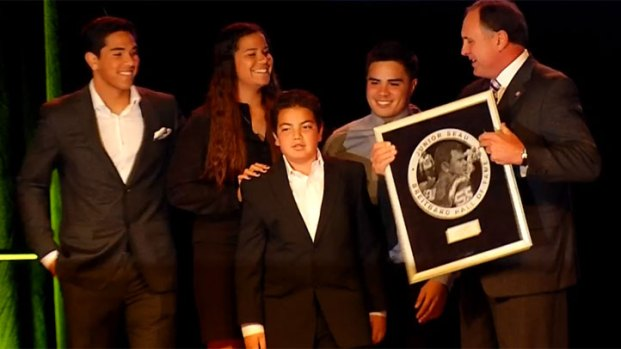 [DGO] Seau Kids Accept Dads Hall of Fame Honor