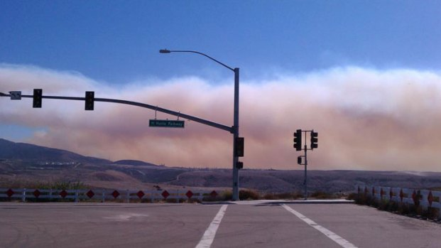 Fire in Tecate Sends Smoke into the Air: Images
