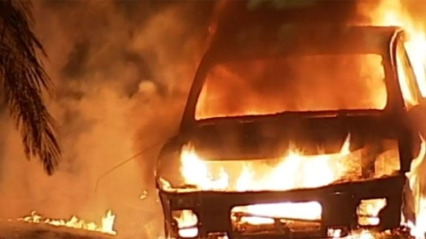 [DGO] Truck Torched in Bay Park: Video