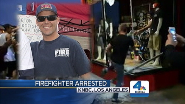 [LA] Local Firefighter Arrested in Connection With Huntington Beach Riot