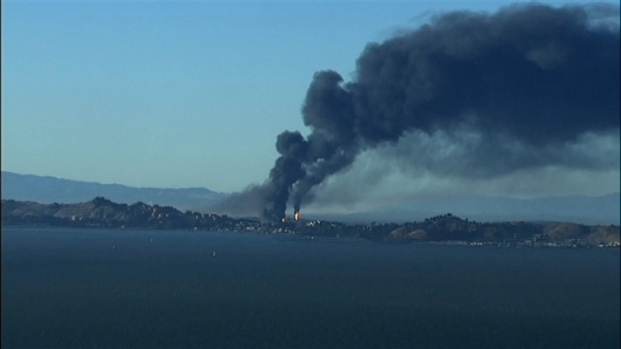 [BAY] RAW VIDEO: Chevron Refinery Erupts in Fire
