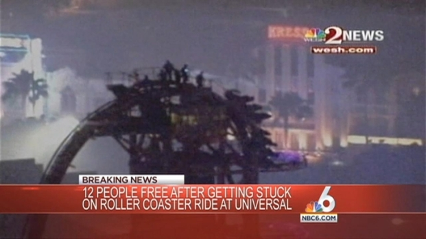 [MI] Stuck Riders Safely Removed From Universal Studios Roller Coaster