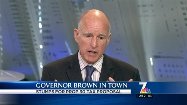 [DGO] Gov. Jerry Brown on NBC 7 News at Noon