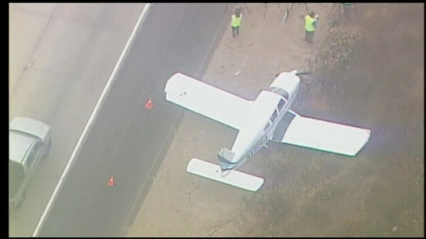 [DGO] Plane Landed Along Shoulder on I-15