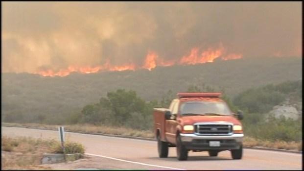 [DGO] Fire Threatens Ranchita: Raw Video