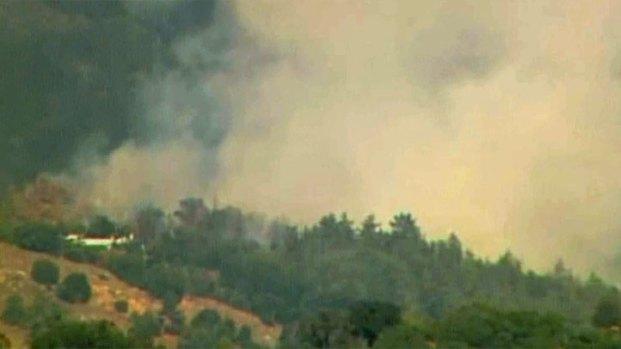 Images of Wynola Fire Burning Near Julian