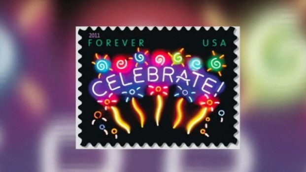 [LA] SoCal Artist Creates First Neon Postage Stamp