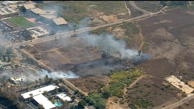 [DGO] Crews Battle Brush Fire in Chula Vista