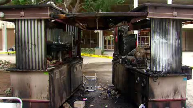 Downtown Coffee Cart Burned Down