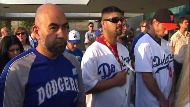 [LA] Dodgers, Giants Fans Attend Vigil