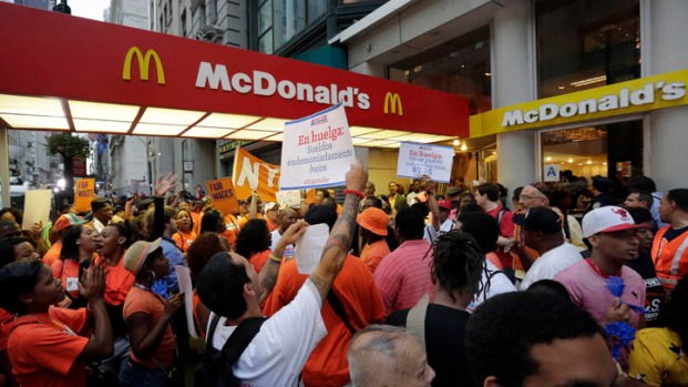 [NATL] Fast Food Workers on Strike Across the Country